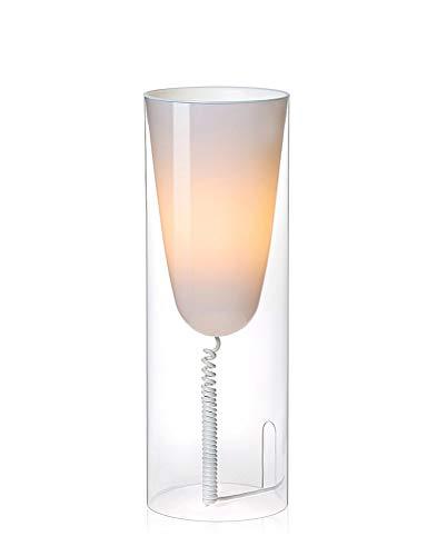 Kartell Toobe Lampada da Tavolo E27, Trasparente (Cristallo), Ø 20 H 55 cm