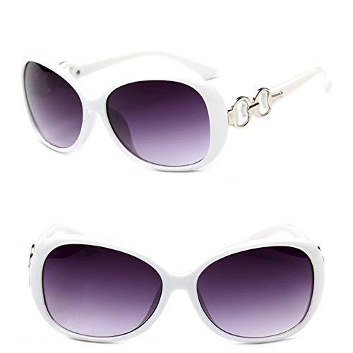 Sonnenbrille Sunglasses Übergroße Farbverlauf Damen Sonnenbrillen Damen Markendesigner Klassische Sonnenbrille Vintage Weiß