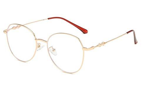 DAUCO Gafas Luz Azul para Mujer Hombre Redondo Gafas Filtro Antifatiga Anti-luz Azul y contra UV400 Ordenador Gaming PC de Gafas