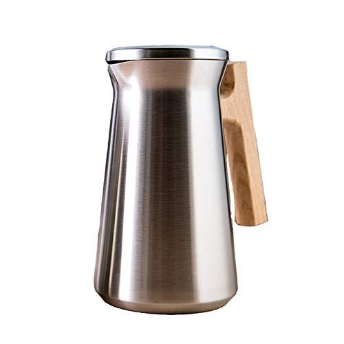 zyy Termo Jarra Jarra Acero Inoxidable Café Aislado Termo Jarra Botella Doble Pared Vacío Jarra Térmica para Usar con Una Mano de Zumo Leche Té Thermo Aislante (1L) (Color : Gold)