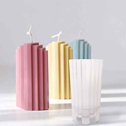 Kerzen Gießform Kerzenform Zum Gießen DIY Seifen Gießformen Handgemachte Kerze Aromatherapie Mold, Trapez Kreative Stereo Kerzen-Form, 6.7×13.5cm