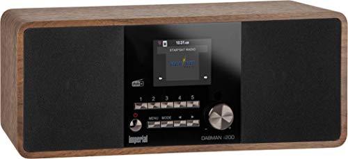 Imperial 22-230-00 Dabman i200 Internet/DAB+ Radio (Stereo Sound, UKW, WLAN, LAN, Aux-In, Line-Out, Kopfhörer Ausgang inkl. Netzteil) braun