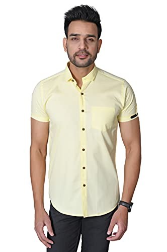 Pactimo Men's Regular Fit Cotton Solid Casual Shirt for Men | Men's Shirt