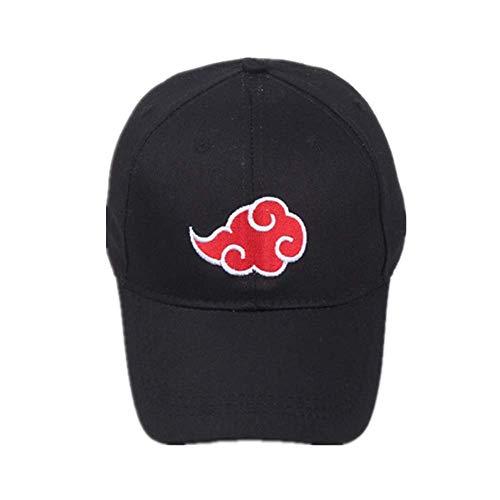 NOBRAND Heppy 100% algodón japonés Akatsuki Logo Anime Naruto Dad Hat Uchiha Family Logo Bordado Gorras de béisbol Negro Snapback Sombreros Dropship