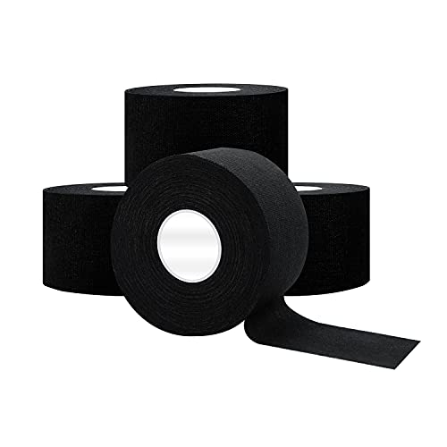 Dimora Black Athletic Sports Tape(4-Rolls) -Very Strong Tape for Athlete & Sport Trainers & First...
