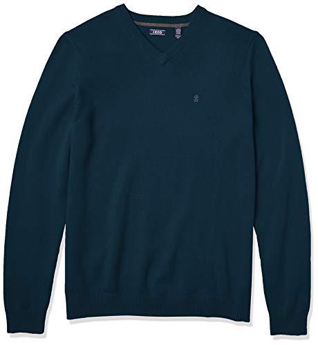 Izod Big and Tall Premium Essentials Solid V-Neck 7 Gauge Sweater Suter Pulver, Estanque Reflectante, 3XL/Largo para Hombre