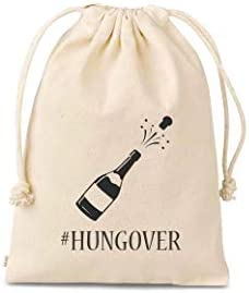 Set of 10 Bags Hungover bachelorette party survival kit bags Hangover Kit Bachelorette Survival product image