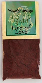 Sage Cauldron Fire of Love Powder Incense 1618 gold
