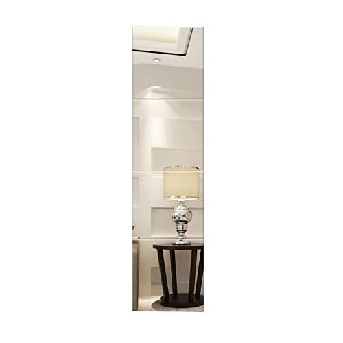 Kapperszaak mirror Aan de muur bevestigde Spiegel van de Badkamers, de muur gemonteerde zelfklevende Plein DIY Mirror Mode Kunst van de Tegel Decoratieve Mirror Verwisselbare huis Badkamer Woonkamer G