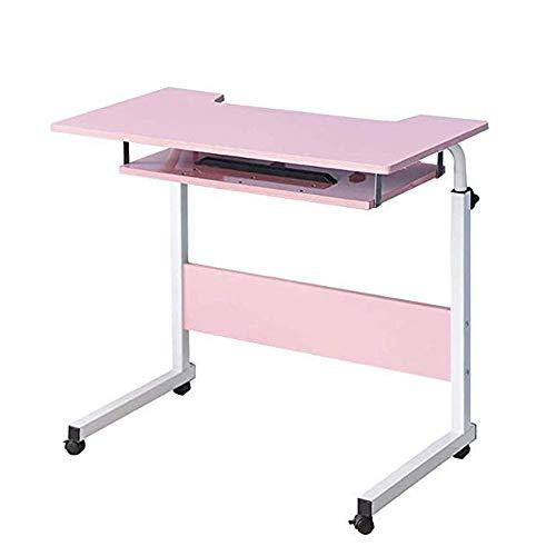 LYATW Laptop Beistelltisch, Haushalt Adjustable Movable heb- und Folding Computer-Schreibtisch Tablet Slot & Räder, beweglicher Laptop...