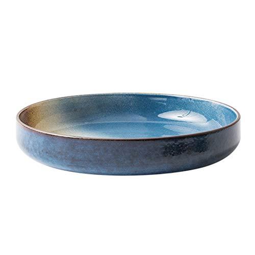HongTeng Vajilla Creativa Cerámica de cerámica Cuenco de Cabeza Grande Guardia Lateral Grande Cuenco Vegetal Bowl Fruit Placa de Fruta