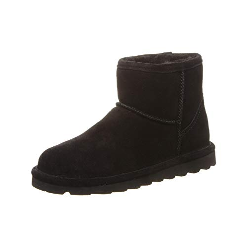 Bearpaw Women's Alyssa Fashion Boot, Black, 9 M US