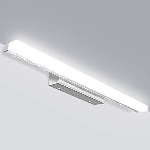 JSLHT LED Spiegelleuchte Badezimmer 50cm Wasserdichte IP44 Bad Spiegellampe 230V 12W 800LM 6000K, Kaltweiss Schrankleuchte Badleuchte für Badzimmer