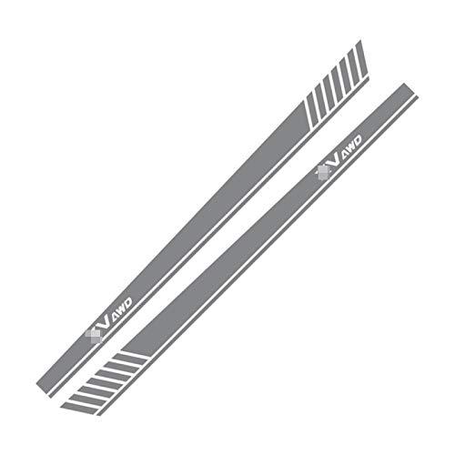 SLONGK Auto Auto Lange Seitenkörper Vinyl Streifen Aufkleber Aufkleber Racing Sport Styling Aufkleber, für Subaru XV Styling Tuning Auto Zubehör