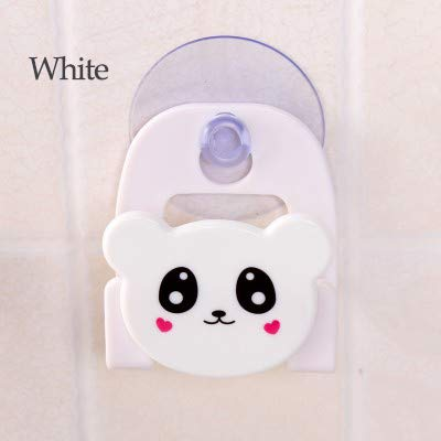 WEDER Animal Saugwand Schwamm Lagerregal Saugnapf Waschbecken Gestell Reinigungskugel Wandbehang, Weiß