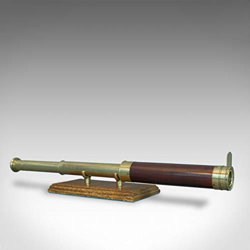 Telescopio Antiguo, Refractor de 2 cajones, Terrestrial, astronómico, inglés, C.1810