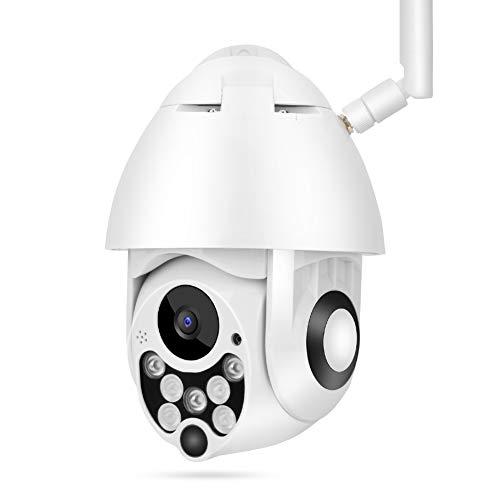 1080P HD PTZ-beveiligingscamera, WiFi-nachtzicht IR CUT 2-weg spraakintercom bewakingscamera voor thuis, ingebouwde microfoon, ondersteuning voor Samrt-monitor via telefoon (EU)