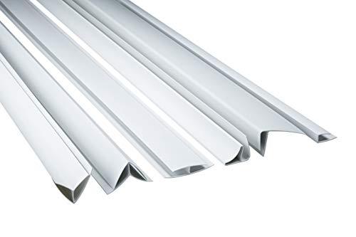 Zubehör für PVC Paneele Bretter Platten Wandverkleidung PP10 PP16 PP25 weiß, Modell:PPA - Außenecke