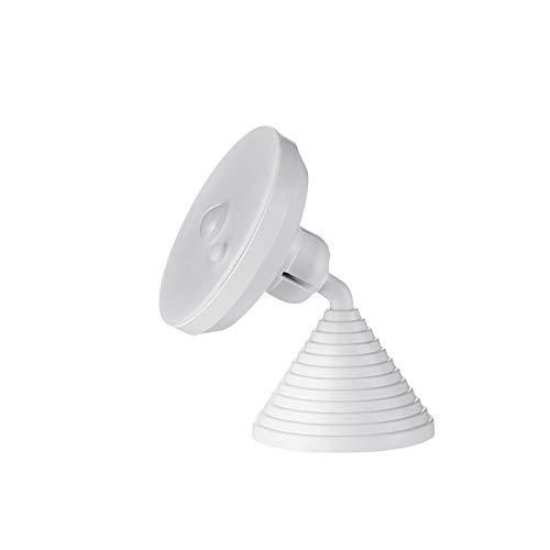 LXHK Luz del Gabinete de Inducción del Cuerpo Humano, Luz Nocturna Recargable con Sensor de Movimiento, Usb Recargable Luces Led Armario con Sensor, Aplique Giratorio Ajustable, 1W,White light