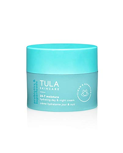 TULA Probiotic Skin Care 24-7 Moisture Hydrating Day and Night Cream | Moisturizer for Face, Ageless is the New Anti-Aging, Face Cream, Contains Watermelon Fruit and Blueberry Extract | 1.5 oz