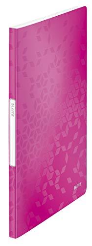 Leitz 46310023 Sichtbuch wow, A4, PP, 20 Hüllen, pink metallic