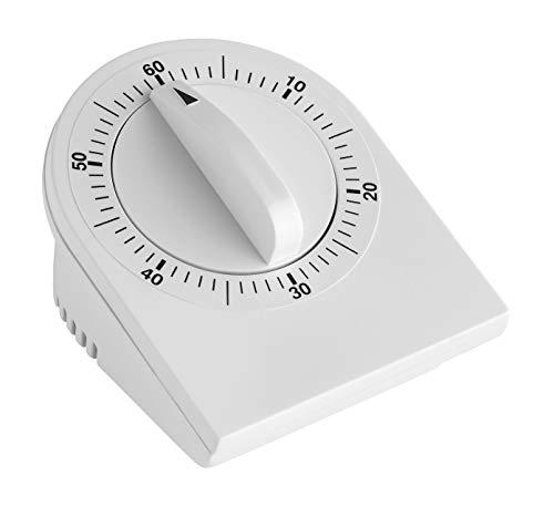 TFA Dostmann Analoger Küchen-Timer, Kunststoff, Weiß, 0 cm
