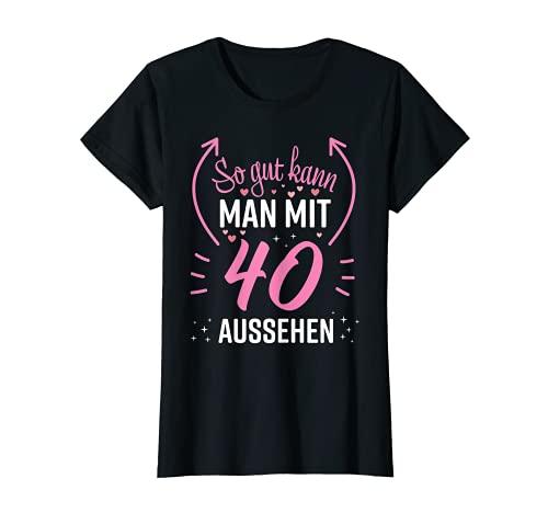 Damen 40 Geburtstag Frauen Frau Deko Lustig 40er 1981 Geburtstag T-Shirt