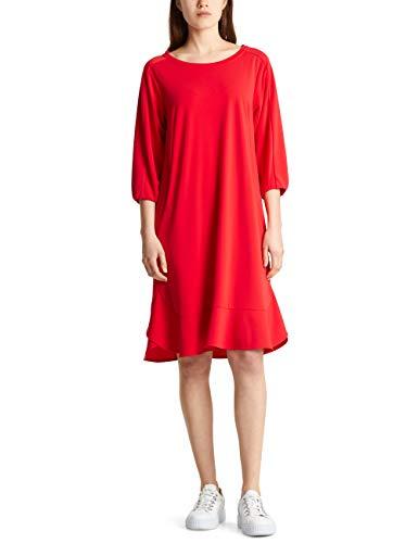 Marc Cain Collections Damen MC 21.16 J21 Kleid, Rot (Scarlet 272), 36 (Herstellergröße: 2)