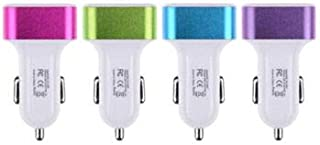 SDO Smart 3.1A Turbo Charging Dual Port + 1 Port USB Car Charger for All Smart Mobile Devices and Tablets (White) with Assorted Colour