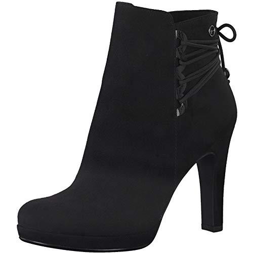 Tamaris Damen Stiefeletten, Frauen Ankle Boots, Stiefel halbstiefel Bootie knöchelhoch reißverschluss weiblich Lady Ladies,Black,38 EU / 5 UK
