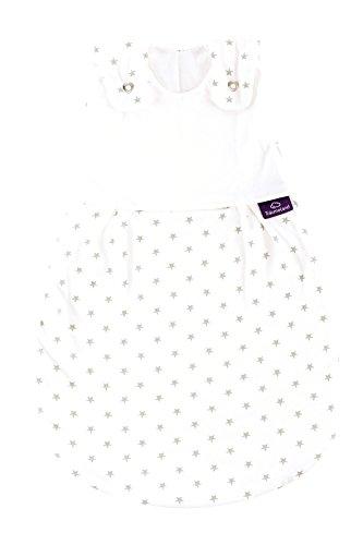 Träumeland S0101401 Außenschlafsack LIEBMICH Sternchen grau, Größe 44, mehrfarbig