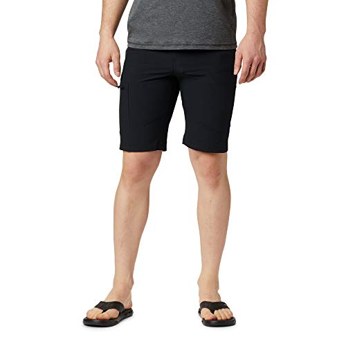 Columbia Triple Canyon Pantalón Corto de Senderismo, Poliéster, Hombre, Negro, Talla US: W44/L10/ (EU W54/L10)