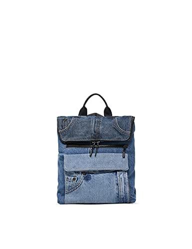 Desigual Womens Back_Denim PATC Backpack, Blue, One Size