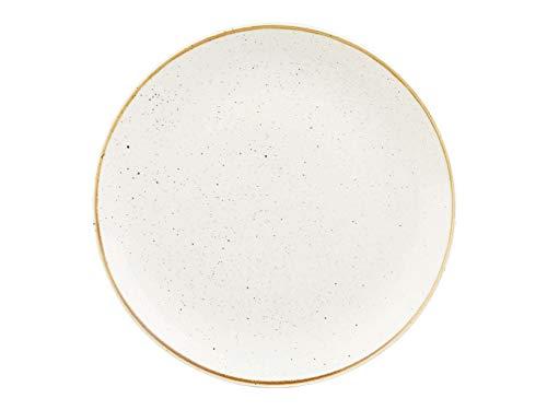 Churchill 375084 Stonecast - Plato llano (porcelana, 26 cm), color blanco