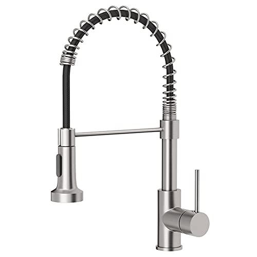 OWOFAN Brushed Nickel Kitchen Faucet