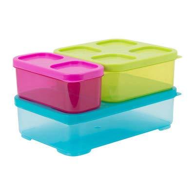 Guilty Gadgets Lot de 6 récipients alimentaires en plastique pour cuisine avec couvercles sans BPA, boîtes verrouillables pour micro-ondes, lave-vaisselle, congélateur