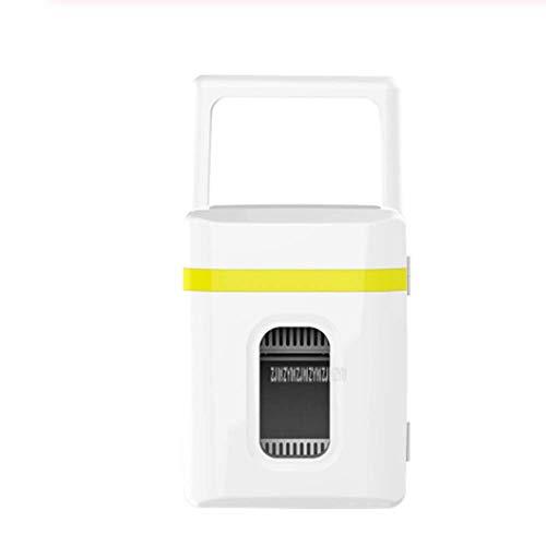 SISHUINIANHUA 10L Refrigerator Portable Mini Car Fridge Car Cooler Box Dual-Use Cooler/Warmer Cold Storage Refrigerator 12V/220V,Yellow
