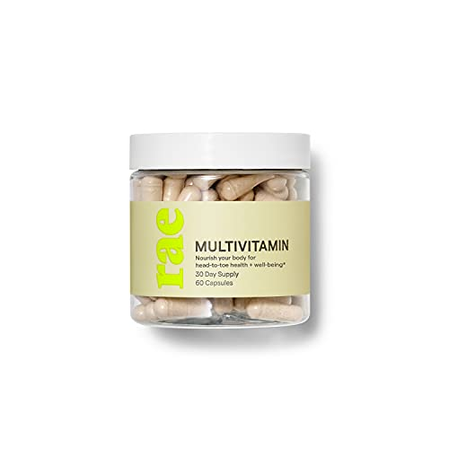 Rae Multivitamin for Women - Women's Daily Vitamins for Whole Body Support and Energy - Vegan, Non GMO and Gluten Free - 30 Day Supply