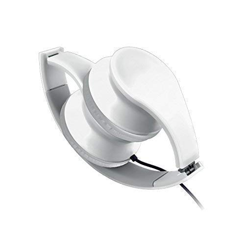 Forever Headset White Head Set koptelefoon oortelefoon met kabel AUX-aansluiting geïntegreerde microfoon oproepaanname knop voor smartphone mobiele telefoon Tablet Playstation PS4 PS3 Xbox MacBook Computer PC Laptop