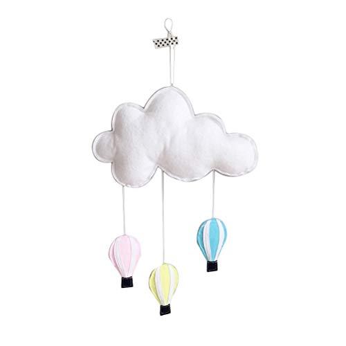 Toyvian Mobile Filz Wolken Heißluftballon Baby Mobile Decke Bett Mobile Baby Kinderzimmer Hänge Deko
