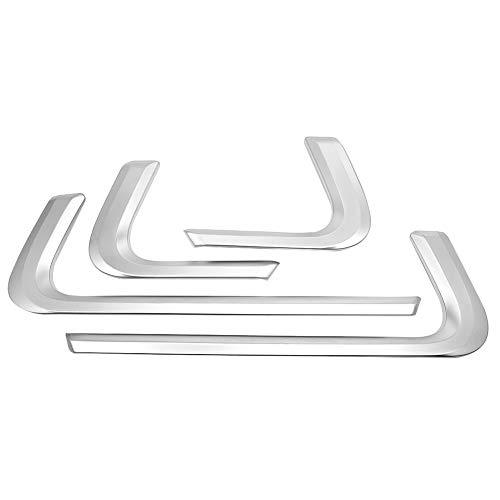Ladieshow Adorno de decoración de Puerta Interior, 4 Piezas de Tira de decoración de Puerta Interior de Coche para Range Rover Sport 2014-2018