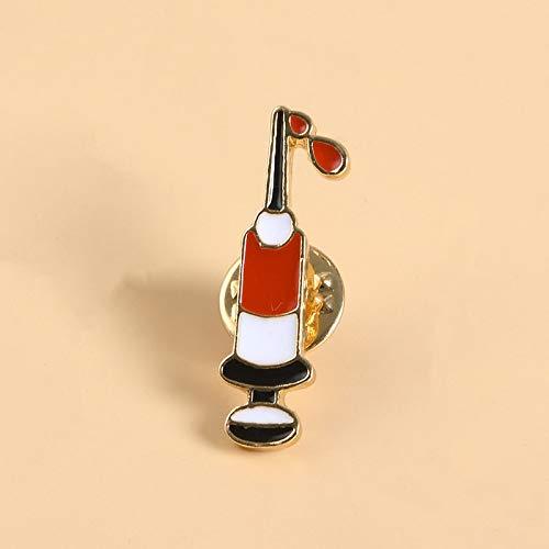 QISKAII Hochwertige Injektionsspritze Broschen Doctor Nurse Brosche Medical Jewelry Emaille Pin Denim Jacken Kragen Abzeichen Pins Button