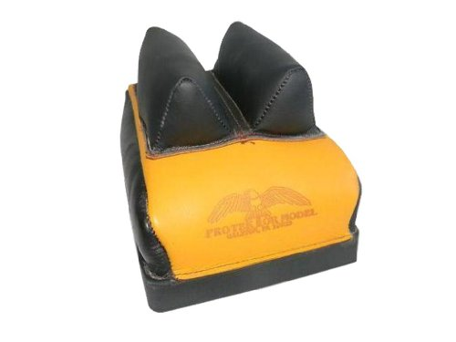 Protektor Model Dr. Bag with Mid. Leather Ear T.S. Between Ears Rear Benchrest Bag, 1/2-Inch