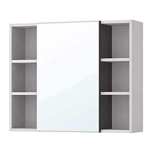 Ikea Lillangen spiegel kast 1 deur/2 einde eenheden zwart-bruin grijs 291.884.31 Maat: 30 3/4x8 1/4x25 1/4