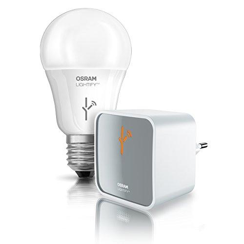 Osram Lightify Starter Kit Gateway, Als Remote- Schnittstelle für alle Lightify- Produkte, Dimmbar, Warmweiß bis tageslicht 2000K - 6500K und Farbsteuerung RGB