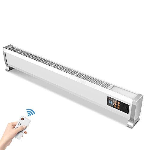 Jueven 2200W -Fußleistenheizung, Energiesparender Elektrischer Heizkörper, Intelligente Konvektionsheizung, Fernsteuerung Und Sicherheitskindersperre (Color : White)