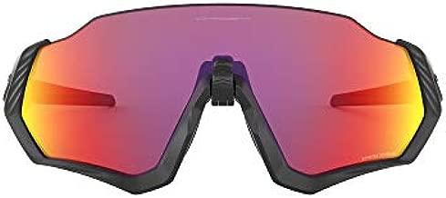 Oakley Men's OO9401 Flight Jacket Shield Sunglasses, Matte Black/Prizm Road, 37 mm