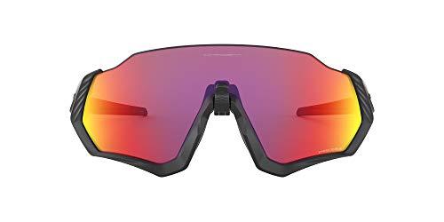 Oakley Uomo Flight Jacket Occhiali da sole, Nero (Negro), 1