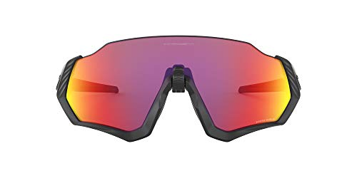 Oakley Flight Jacket Gafas de sol, Rectangulares, 1, Negro
