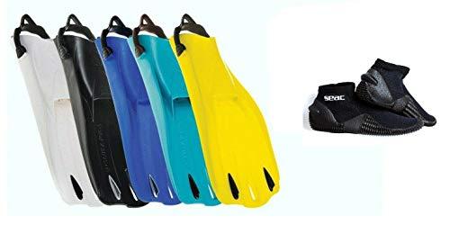 SCUBAPRO Go Sport Tauchflosse mit Seac Sub Tropic Füßlinge (gelb, 43-44)